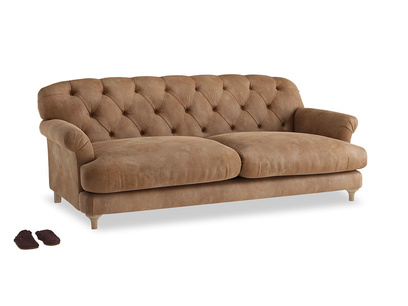 Large Truffle Sofa in Walnut beaten leather