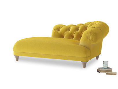 Right Hand Fats Chaise Longue in Bumblebee clever velvet