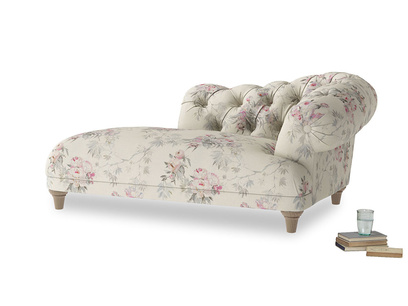 Right Hand Fats Chaise Longue in Pink vintage rose