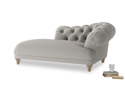 Right Hand Fats Chaise Longue in Wolf brushed cotton