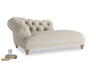 Left Hand Fats Chaise Longue in Thatch house fabric