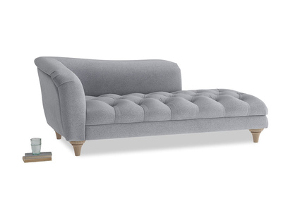Left Hand Slumber Jack Chaise Longue in Dove grey wool
