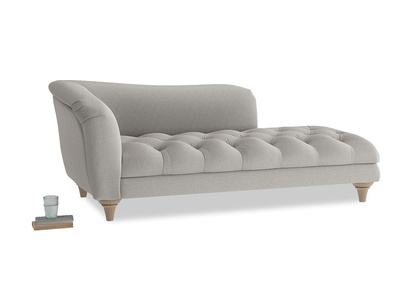 Left Hand Slumber Jack Chaise Longue in Wolf brushed cotton