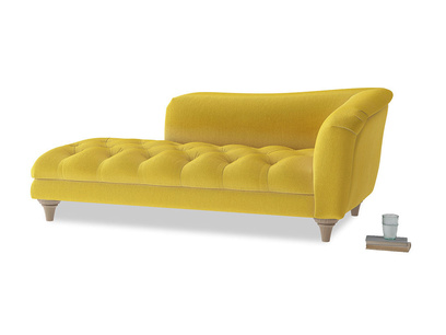 Right Hand Slumber Jack Chaise Longue in Bumblebee clever velvet