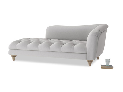 Right Hand Slumber Jack Chaise Longue in Flint brushed cotton