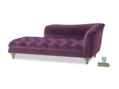 Right Hand Slumber Jack Chaise Longue in Grape clever velvet
