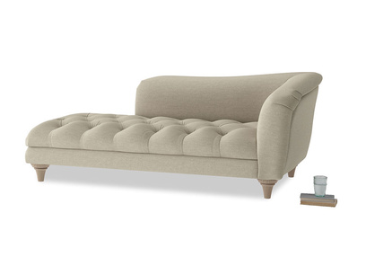 Right Hand Slumber Jack Chaise Longue in Jute vintage linen