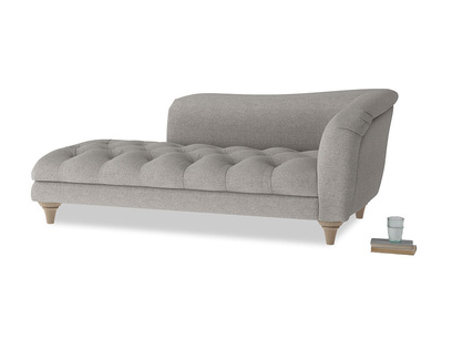 Right Hand Slumber Jack Chaise Longue in Marl grey clever woolly fabric