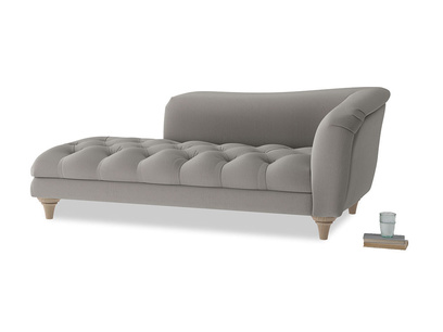Right Hand Slumber Jack Chaise Longue in Monsoon grey clever cotton