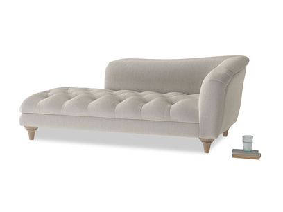 Right Hand Slumber Jack Chaise Longue in Smoky Grey clever velvet