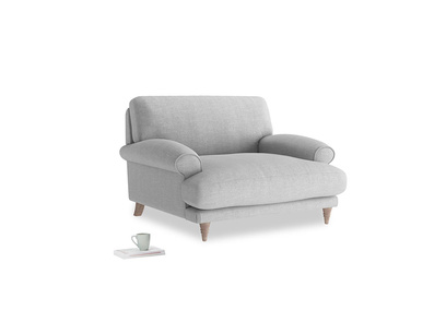 Slowcoach Love seat in Cobble house fabric