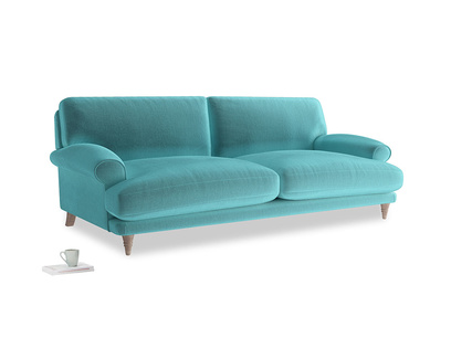 Large Slowcoach Sofa in Belize clever velvet