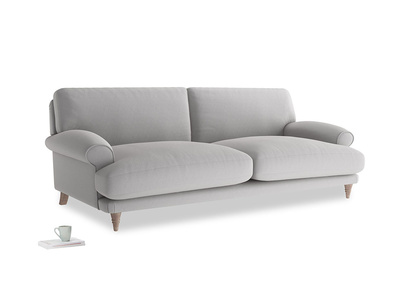 Large Slowcoach Sofa in Flint brushed cotton