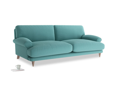 Large Slowcoach Sofa in Peacock brushed cotton