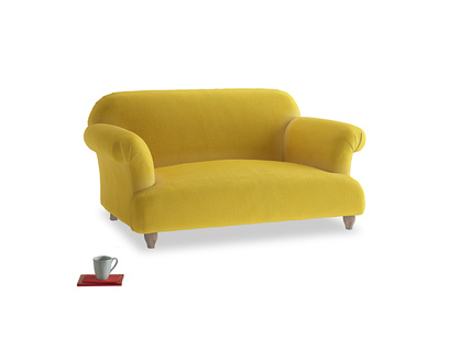 Small Soufflé Sofa in Bumblebee clever velvet