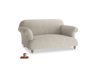 Small Soufflé Sofa in Thatch house fabric