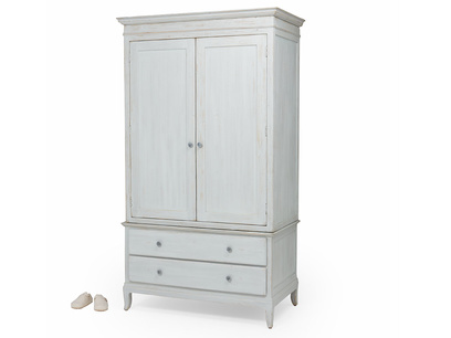 Flutterby vintage white inky blue wardrobe