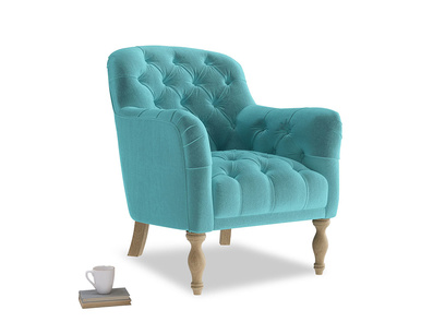 Reader Armchair in Belize clever velvet