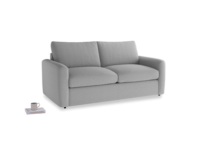 Chatnap Sofa Bed in Magnesium washed cotton linen with both arms