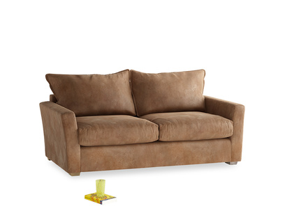 Medium Pavilion Sofa Bed in Walnut beaten leather