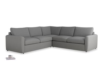 Even Sided  Chatnap modular corner storage sofa in Gun Metal brushed cotton with both arms