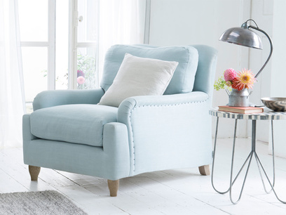 Deep comfy British made luxury Pavlova armchair