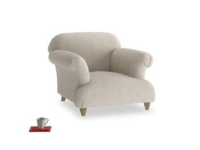 Contemporary comfy luxury British made Soufflè armchair
