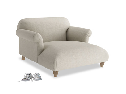 Contemporary Soufflé love seat chaise