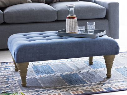 Bloomer chesterfield gorgeous footstool coffee table
