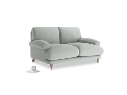 Small Slowcoach Sofa in Eggshell grey clever cotton