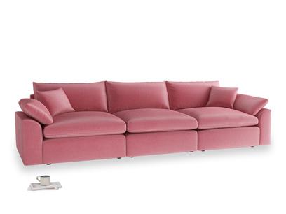 Large Cuddlemuffin Modular sofa in Blushed pink vintage velvet