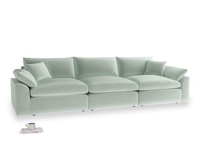 Large Cuddlemuffin Modular sofa in Mint clever velvet
