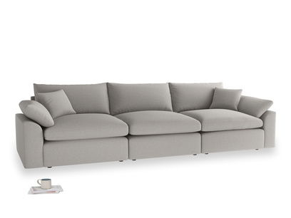 Large Cuddlemuffin Modular sofa in Wolf brushed cotton