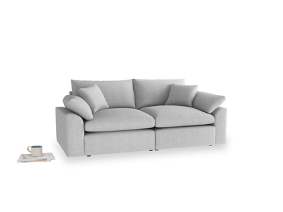 Medium Cuddlemuffin Modular sofa in Cobble house fabric