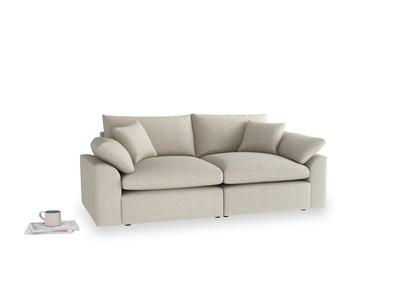 Medium Cuddlemuffin Modular sofa in Thatch house fabric