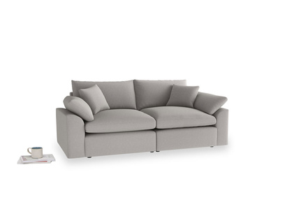 Medium Cuddlemuffin Modular sofa in Wolf brushed cotton