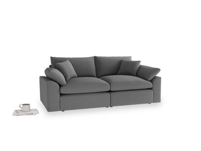 Medium Cuddlemuffin Modular sofa in Ash washed cotton linen