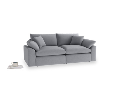 Medium Cuddlemuffin Modular sofa in Dove grey wool