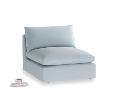 Cuddlemuffin Single Seat in Scandi blue clever cotton