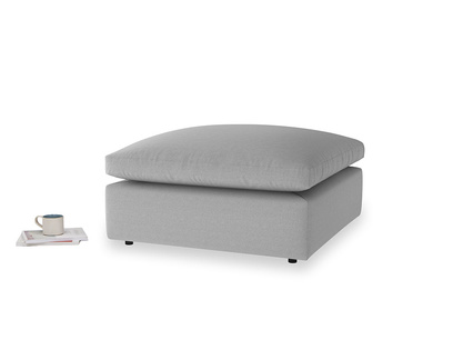 Cuddlemuffin Footstool in Magnesium washed cotton linen
