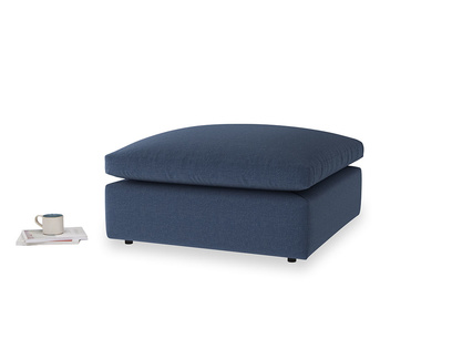 Cuddlemuffin Footstool in Navy blue brushed cotton