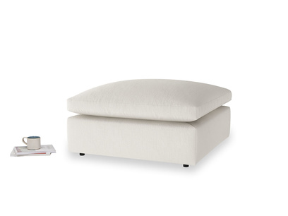 Cuddlemuffin Footstool in Oyster white clever linen