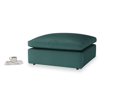 Cuddlemuffin Footstool in Timeless teal vintage velvet