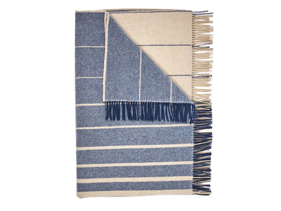 Ripple striped throw