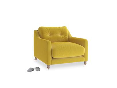 Slim Jim Armchair in Bumblebee clever velvet