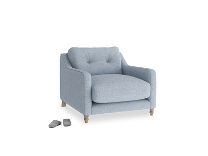 Slim Jim Armchair in Frost clever woolly fabric