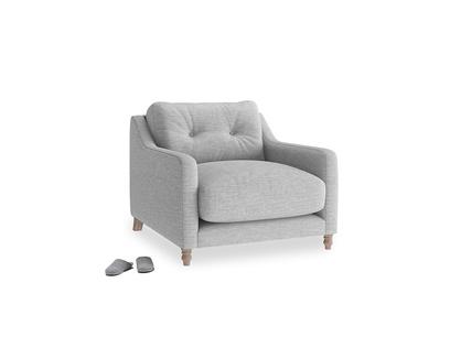 Slim Jim Armchair in Mist cotton mix