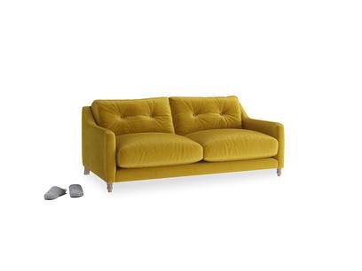Small Slim Jim Sofa in Burnt yellow vintage velvet