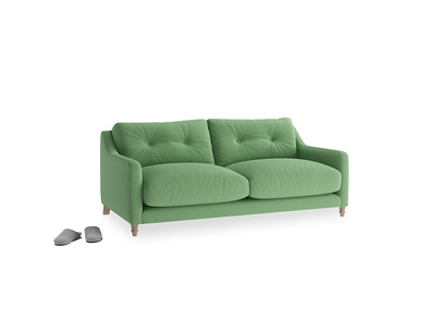 Small Slim Jim Sofa in Clean green Brushed Cotton