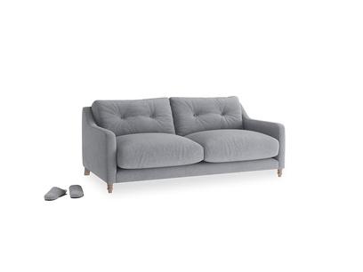 Small Slim Jim Sofa in Dove grey wool